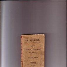 Libros antiguos: EL CONSULTOR ....LIBRO DE CUENTAS AJUSTADAS AÑO 1904. Lote 37396885