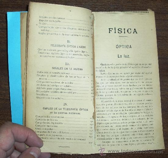 OPTICA Y TELEGRAFÍA ÓPTICA (Libros Antiguos, Raros y Curiosos - Ciencias, Manuales y Oficios - Física, Química y Matemáticas)