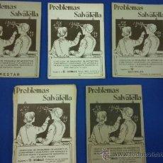 Libros antiguos: LOTE 5 CUADERNOS PROBLEMAS SALVATELLA Nº 2, 8, 9,10 Y 12 SIN USAR AÑOS 60. Lote 38277432