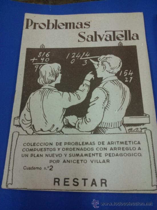 Libros antiguos: LOTE 5 CUADERNOS PROBLEMAS SALVATELLA Nº 2, 8, 9,10 Y 12 SIN USAR AÑOS 60 - Foto 6 - 38277432