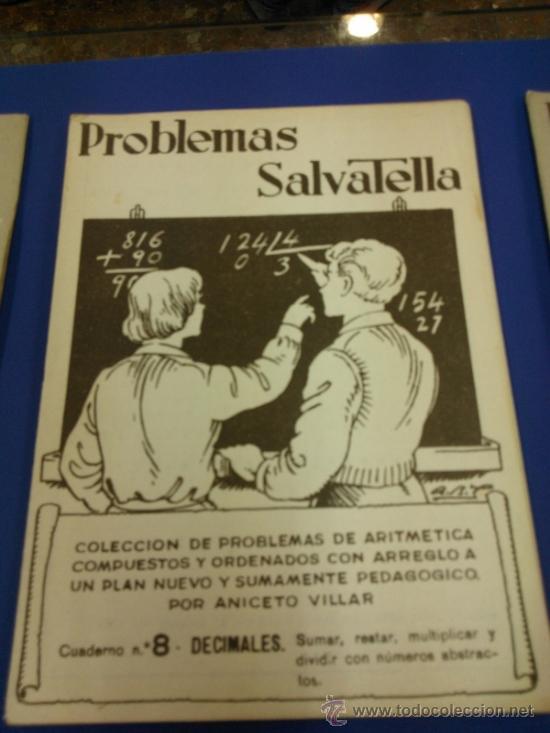 Libros antiguos: LOTE 5 CUADERNOS PROBLEMAS SALVATELLA Nº 2, 8, 9,10 Y 12 SIN USAR AÑOS 60 - Foto 5 - 38277432
