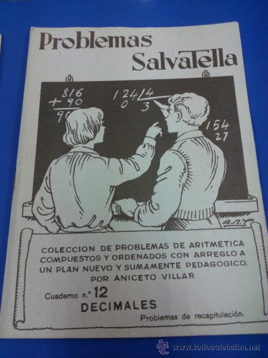 Libros antiguos: LOTE 5 CUADERNOS PROBLEMAS SALVATELLA Nº 2, 8, 9,10 Y 12 SIN USAR AÑOS 60 - Foto 4 - 38277432