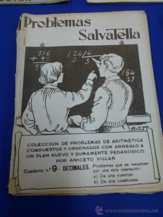 Libros antiguos: LOTE 5 CUADERNOS PROBLEMAS SALVATELLA Nº 2, 8, 9,10 Y 12 SIN USAR AÑOS 60 - Foto 3 - 38277432