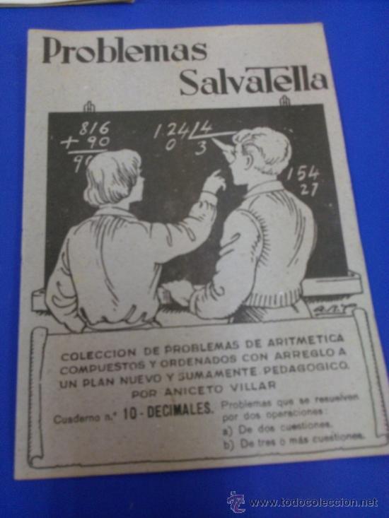 Libros antiguos: LOTE 5 CUADERNOS PROBLEMAS SALVATELLA Nº 2, 8, 9,10 Y 12 SIN USAR AÑOS 60 - Foto 2 - 38277432