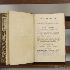 Libros antiguos: 3985- GUIA PRACTICO DE AGRIMENSORES Y LABRADORES. FRANCISCO VERDEJO. IMP. REPULLES. 1833. . Lote 39817504