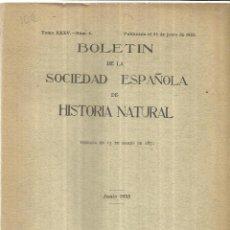 Libros antiguos: BOLETÍN DE LA SOCIEDAD ESPAÑOLA DE HISTORIA NATURAL. M. NACIONAL DE CIENCIAS NATURALES. 1935. Lote 39973130