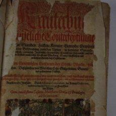 Libros antiguos: 6030- KREUTERBUCH KÜNSTLICHE CONTERFEYTUNGE DER BÄUME STAUDEN. ADAM LONITZER. 1593. Lote 41017680