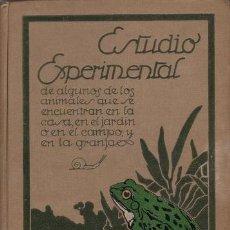 Libros antiguos: PALAU VERA, J: ESTUDIO EXPERIMENTAL DE ALGUNOS DE LOS ANIMALES QUE SE ENCUENTRAN EN LA CASA.... Lote 41317499