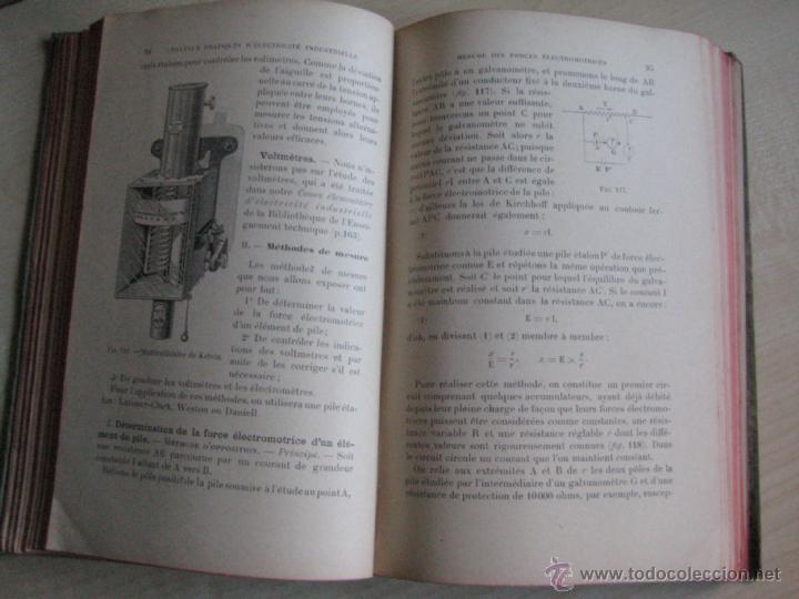 Libros antiguos: TRAVAUX PRACTIQUES D´ELECTRICITÉ INDUSTRIELLE 1911 CON GRABADOS - Foto 5 - 41608159