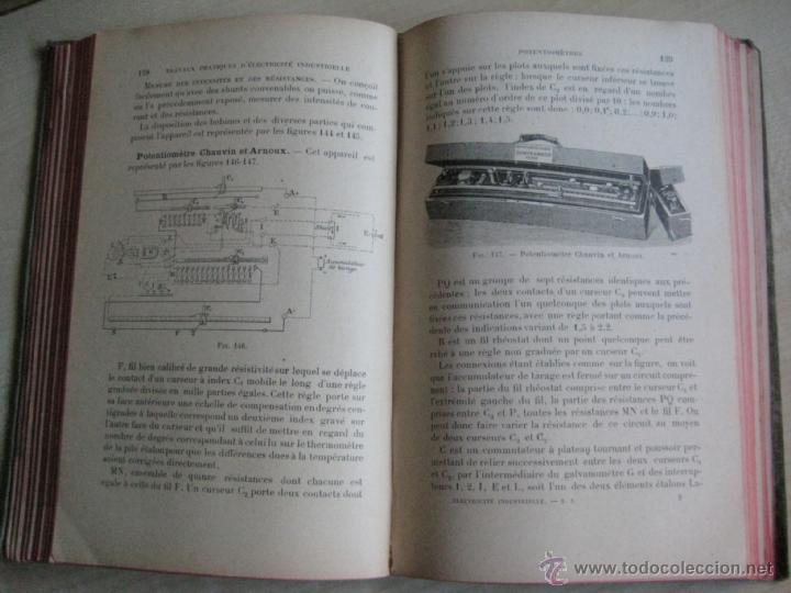 Libros antiguos: TRAVAUX PRACTIQUES D´ELECTRICITÉ INDUSTRIELLE 1911 CON GRABADOS - Foto 6 - 41608159