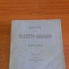 Libros antiguos: BOLETIN DEL INSTITUTO GEOLOGICO DE ESPAÑA. TOMO XLII-TOMO II. 1921.TERCERA SERIE. MARRUECOS.. Lote 42230768