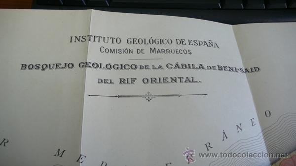 Libros antiguos: BOLETIN DEL INSTITUTO GEOLOGICO DE ESPAÑA. TOMO XLII-TOMO II. 1921.TERCERA SERIE. MARRUECOS. - Foto 19 - 42230768