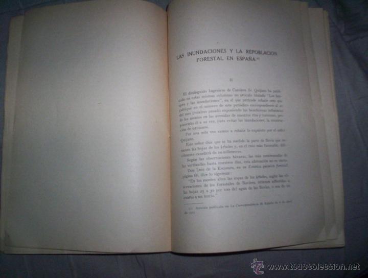 Libros antiguos: las inundaciones y la repoblacion forestal en españa, ilustrado 1920, ricardo garcia cañada I - Foto 3 - 42302239