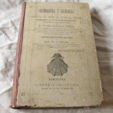 Libros antiguos: LIBRO DE COSMOGONÍA Y GEOLOGÍA. EXPOSICIÓN DEL ORIGEN DEL SISTEMA DEL UNIVERSO . JAIME ALMERA PBRO.. Lote 42430936