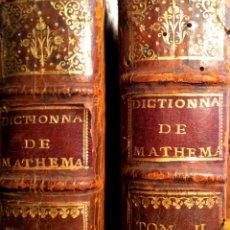 Libros antiguos: DICCIONARIO UNIVERSAL DE MATEMÁTICA Y FÍSICA PRIMERA EDICIÓN PARÍS 1753. Lote 42519037
