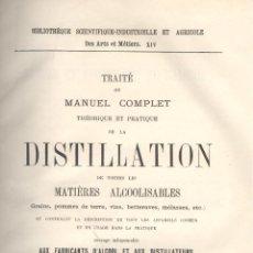 Libros antiguos: CHARLES STAMMER. MANUEL COMPLET DE LA DISTILLATION. PARIS, S.F. (C. 1890). FRANCÉS. Lote 43111711