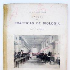 Libros antiguos: MANUAL DE PRACTICAS DE BIOLOGIA/ J. FUSET/ LIB. BOSCH 1925/ CON DIBUJOS ORIGINALES DEL ALUMNO. Lote 44281417