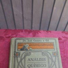 Libros antiguos: ANALISIS QUIMICO. JOSE CASARES. MANUALES GALLACH. ILUSTRADO. Lote 44760703