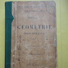 Libros antiguos: EXERCICES DE GEOMETRIE DESCRIPTIVE. Lote 44799624