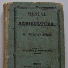 Libros antiguos: MADRID 1859 MANUAL DE AGRICULTURA DE ALEJANDRO OLIVAN 264 PAG. Lote 44899624