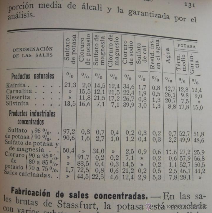 Libros antiguos: Abonos industriales. Dr. A Maylin. Manuales Gallach 20. v fotos. agricultura - Foto 4 - 45734174