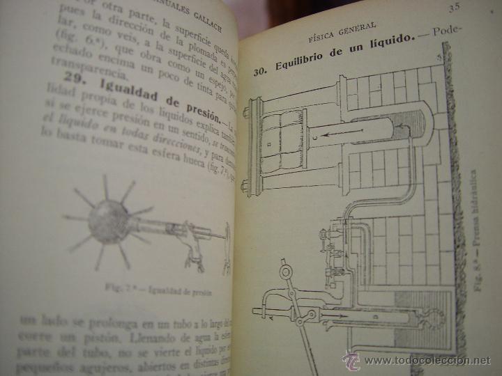 Libros antiguos: FISICA . MANUALES GALLACH ( EDUARDO LOZANO ) CALPE. - Foto 4 - 45735576