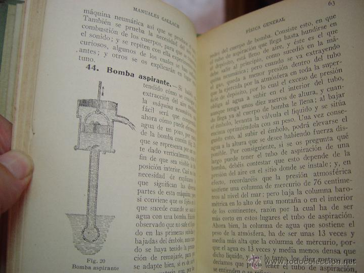 Libros antiguos: FISICA . MANUALES GALLACH ( EDUARDO LOZANO ) CALPE. - Foto 5 - 45735576