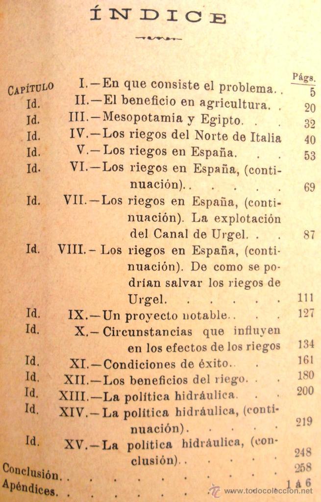 Libros antiguos: Canales de riego. J Zulueta. manuales Gallach 39. Bon estat v fotos agricultura - Foto 4 - 45736964