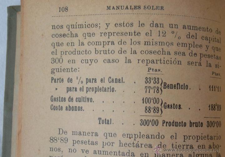 Libros antiguos: Canales de riego. J Zulueta. manuales Gallach 39. Bon estat v fotos agricultura - Foto 5 - 45736964