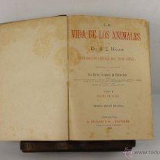 Libros antiguos: 5462- LA VIDA DE LOS ANIMALES. A.E. BREHM. EDIT. A. RUIDOR. 1880. 6 VOL. . Lote 45847905