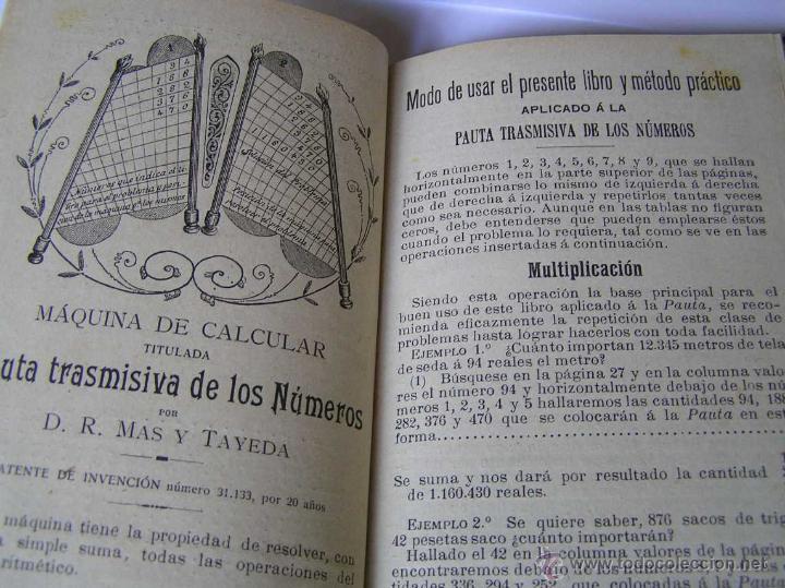 Libros antiguos: 1904 LIBRO AUXILIAR DE LA PAUTA TRASMISIVA DE LOS NÚMEROS D.R. MAS TAYEDA 2ª ED AMPLIADA, BARCELONA - Foto 2 - 46079051