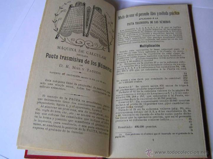 Libros antiguos: 1904 LIBRO AUXILIAR DE LA PAUTA TRASMISIVA DE LOS NÚMEROS D.R. MAS TAYEDA 2ª ED AMPLIADA, BARCELONA - Foto 3 - 46079051