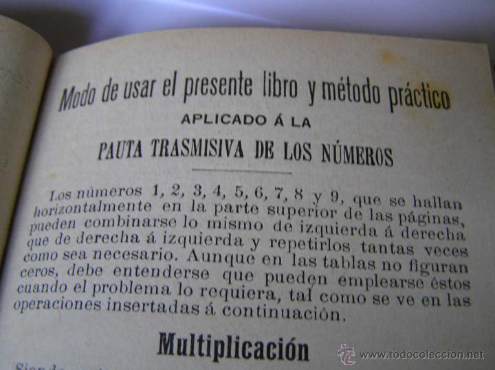 Libros antiguos: 1904 LIBRO AUXILIAR DE LA PAUTA TRASMISIVA DE LOS NÚMEROS D.R. MAS TAYEDA 2ª ED AMPLIADA, BARCELONA - Foto 16 - 46079051