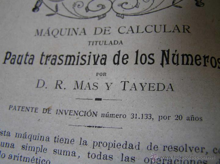 Libros antiguos: 1904 LIBRO AUXILIAR DE LA PAUTA TRASMISIVA DE LOS NÚMEROS D.R. MAS TAYEDA 2ª ED AMPLIADA, BARCELONA - Foto 17 - 46079051
