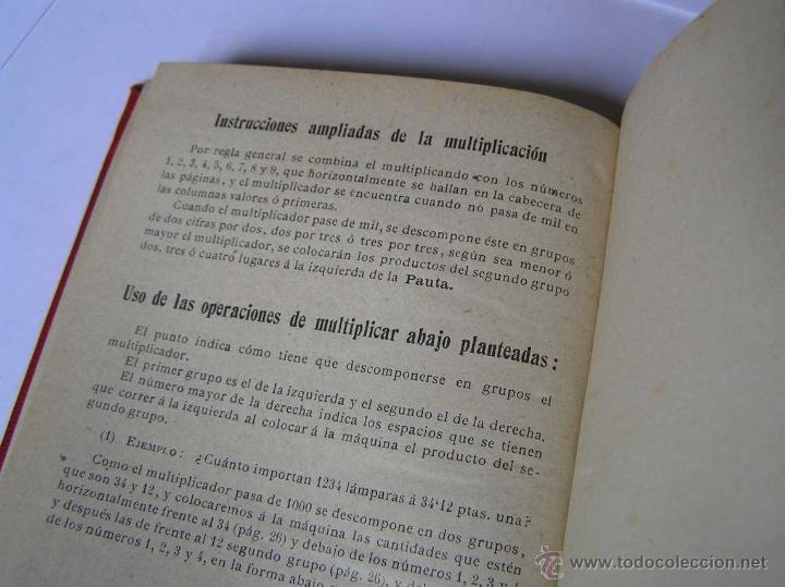 Libros antiguos: 1904 LIBRO AUXILIAR DE LA PAUTA TRASMISIVA DE LOS NÚMEROS D.R. MAS TAYEDA 2ª ED AMPLIADA, BARCELONA - Foto 23 - 46079051