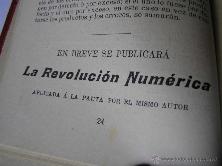 Libros antiguos: 1904 LIBRO AUXILIAR DE LA PAUTA TRASMISIVA DE LOS NÚMEROS D.R. MAS TAYEDA 2ª ED AMPLIADA, BARCELONA - Foto 26 - 46079051
