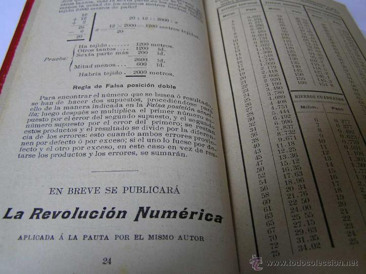 Libros antiguos: 1904 LIBRO AUXILIAR DE LA PAUTA TRASMISIVA DE LOS NÚMEROS D.R. MAS TAYEDA 2ª ED AMPLIADA, BARCELONA - Foto 27 - 46079051