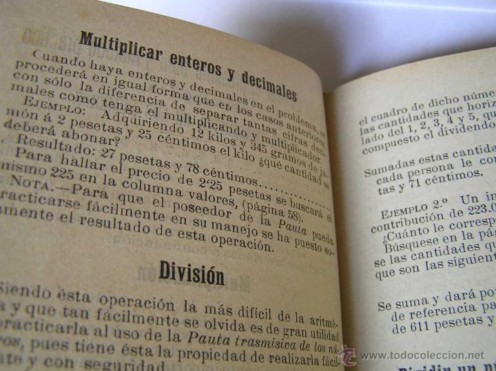 Libros antiguos: 1904 LIBRO AUXILIAR DE LA PAUTA TRASMISIVA DE LOS NÚMEROS D.R. MAS TAYEDA 2ª ED AMPLIADA, BARCELONA - Foto 28 - 46079051
