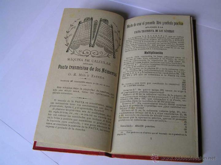 Libros antiguos: 1904 LIBRO AUXILIAR DE LA PAUTA TRASMISIVA DE LOS NÚMEROS D.R. MAS TAYEDA 2ª ED AMPLIADA, BARCELONA - Foto 29 - 46079051