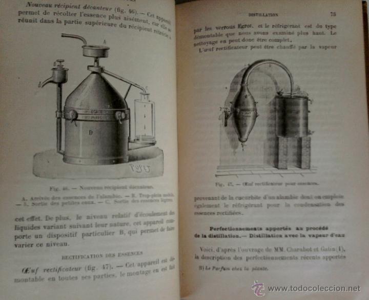 Libros antiguos: LIBRO-LA QUIMICA DE LOS PERFUMES Y LA FABRICACION DE ESENCIAS-AÑO 1908,EN FRANCES,DIBUJOS Y FORMULAS - Foto 3 - 82354343
