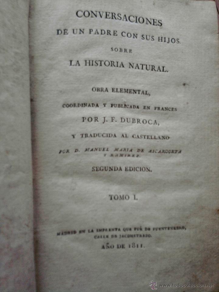 Libros antiguos: LIBRO EPOCA GUERRA DE LA INDEPENDENCIA, AÑO 1811-LA HISTORIA NATURAL-TEMA ORO,PLATA,METALES,PLANETA. - Foto 2 - 46107822