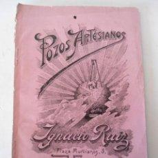 Libros antiguos: LIBRO POZOS ARTESIANOS DE IGNACIO RUIZ 1912 VALENCIA. Lote 46137716