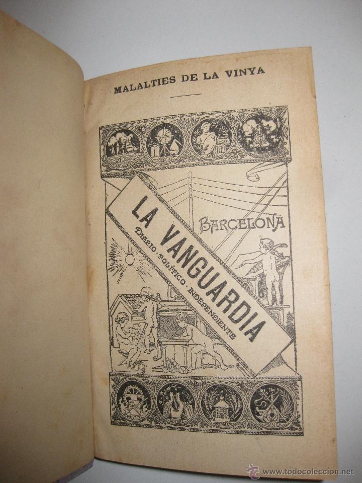 Libros antiguos: MALALTIES DE LA VINYA. JOAQUIM AGUILERA.1898. REGALO DE LA VANGUARDIA A SUS SUSCRIPTORES. - Foto 2 - 46165573