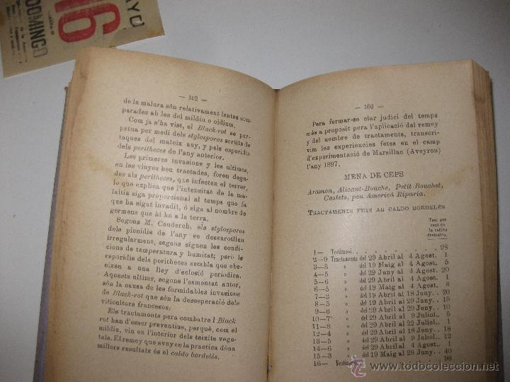 Libros antiguos: MALALTIES DE LA VINYA. JOAQUIM AGUILERA.1898. REGALO DE LA VANGUARDIA A SUS SUSCRIPTORES. - Foto 5 - 46165573