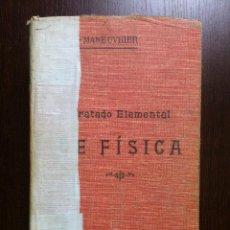 Libros antiguos: TRATADO ELEMENTAL DE FISICA - GEORGES MANEUVRIER - PARIS - 1913 -. Lote 46302032