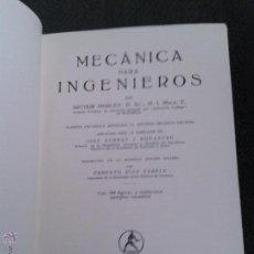 Libros antiguos: MECANICA PARA INGENIEROS - ARTHUR MORLEY - 1934. Lote 46614217
