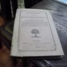 Libros antiguos: 3473.- AGRICULTURA-BIBLIOTECA AGRICOLA DE LOS ABONOS PARA LAS TIERRAS-LUIS JUSTO Y VILLANUEVA. Lote 46674132