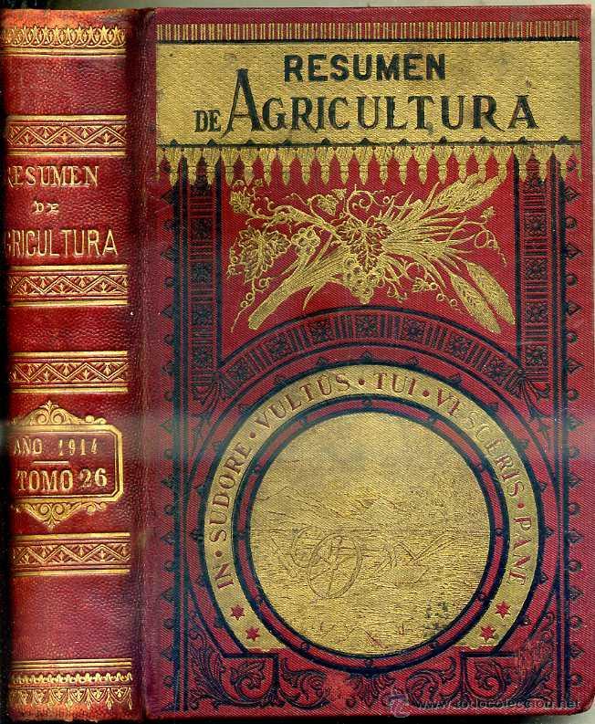 RESUMEN DE AGRICULTURA AÑO 1914 (Libros Antiguos, Raros y Curiosos - Ciencias, Manuales y Oficios - Bilogía y Botánica)