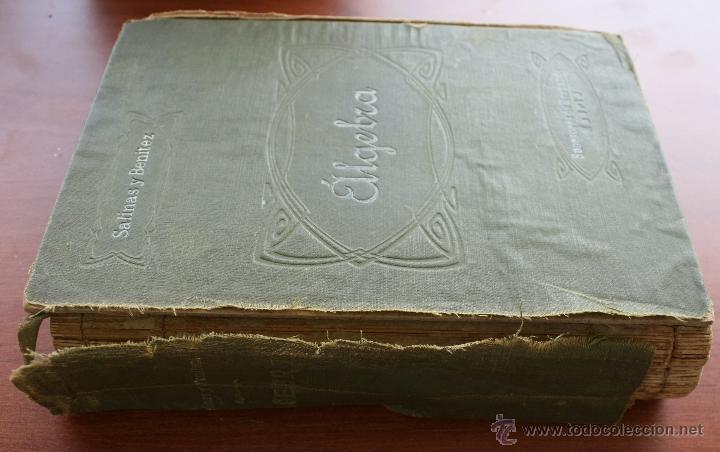 Libros antiguos: ALGEBRA – SALINAS Y BENITEZ SUCESORES DE HERNANDO MADRID 1885 – FIRMADO – INSTRUCCIÓN MILITAR - Foto 2 - 47011495