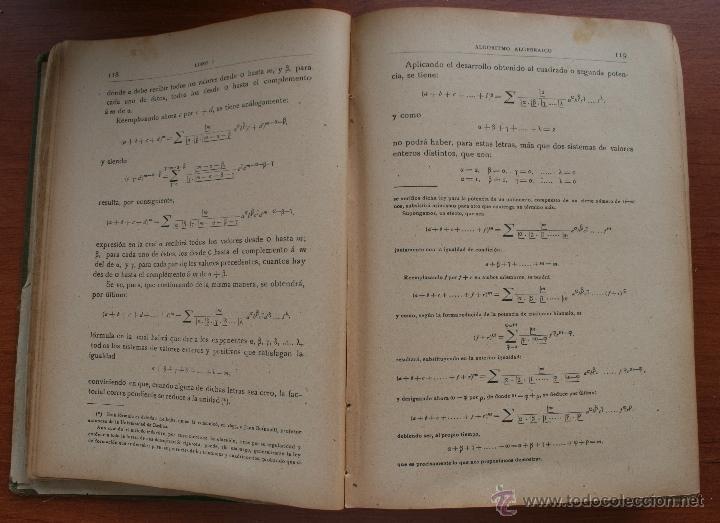 Libros antiguos: ALGEBRA – SALINAS Y BENITEZ SUCESORES DE HERNANDO MADRID 1885 – FIRMADO – INSTRUCCIÓN MILITAR - Foto 4 - 47011495